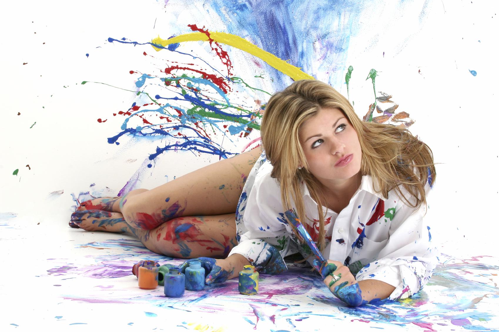 Фото девушек в краске 6 фотография